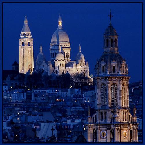 Sacre Coeur at Twilight, Montmartre por Rita Crane Photography