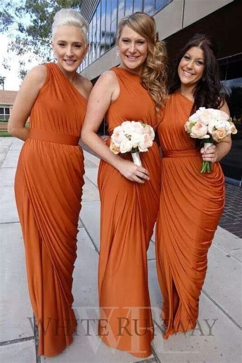 Rust Bridesmaid Dresses   #readysetRidley   Wedding