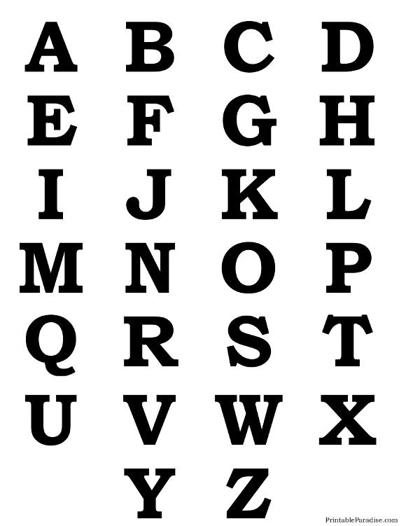 Alphabet Letter Silhouettes