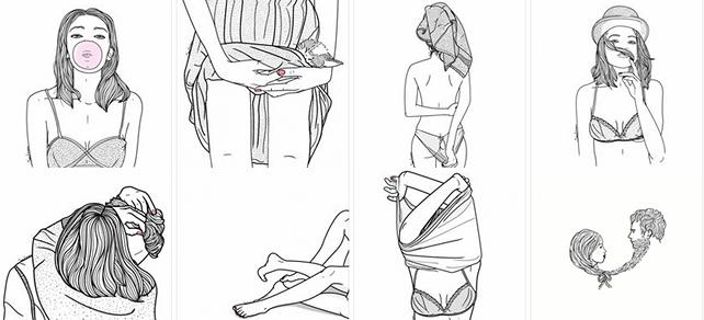 Las Ilustraciones Hipster De Sara Herranz Una Oda A La Sexualidad