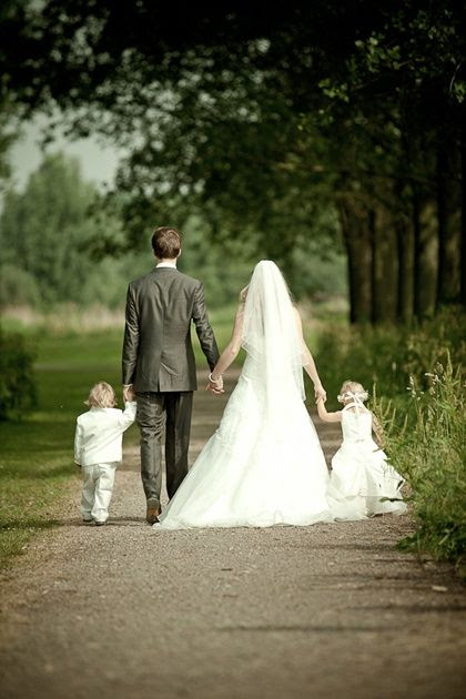 Bride, Groom, ring bearer and flower girl! If you have more than one flower girl and ring bearer...would be cute to have everyone holding hands!