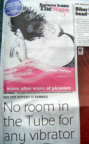 Rampant Rabbit ad banned on the Tube