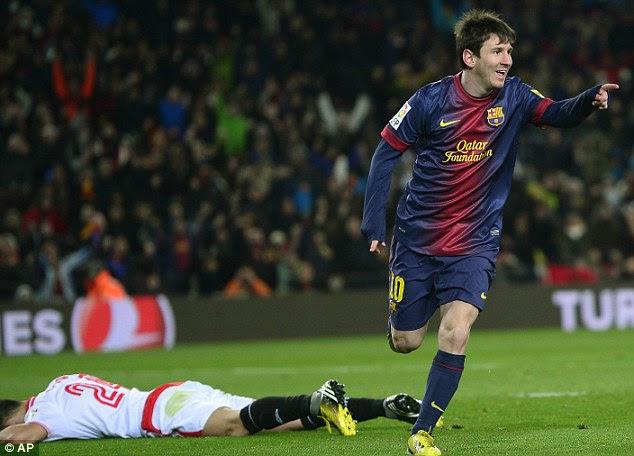 Normal service has resumed: Lionel Messi hit the winner against Seville