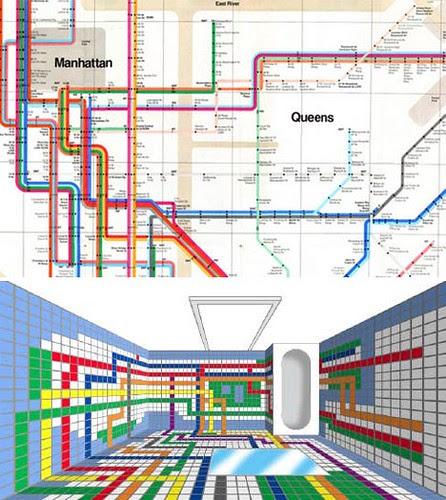 3D Subway bathroom tiles