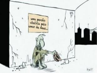 Na Bahia de 20 a 25 mil ex-prefeitos seriam beneficiados (Charge/Bahiajá)