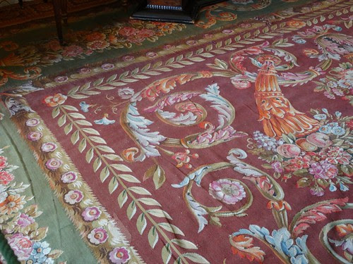Beautiful tapestry rug at Chatsworth