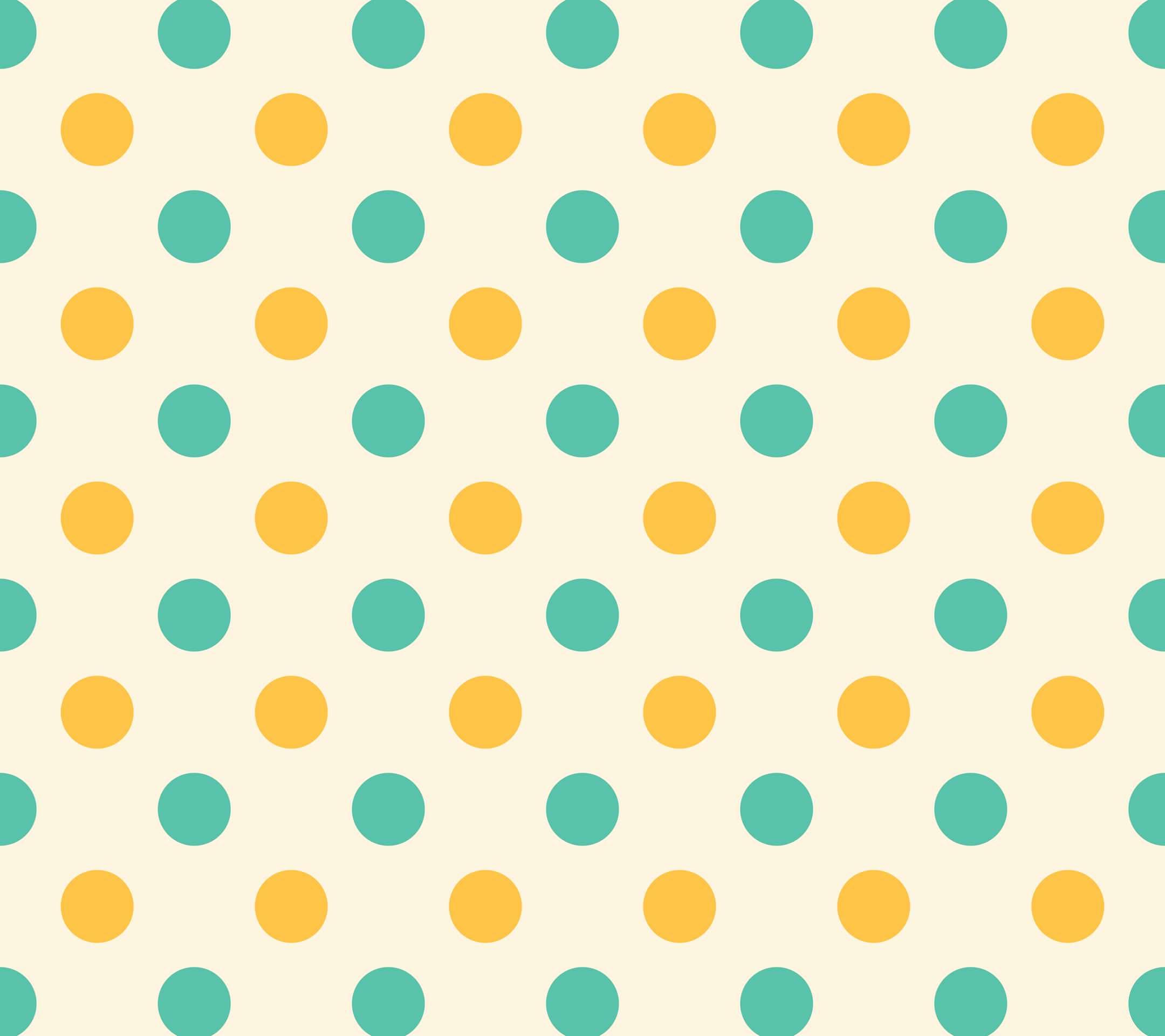 緑と黄色のドット柄 Android壁紙 Wallpaperbox