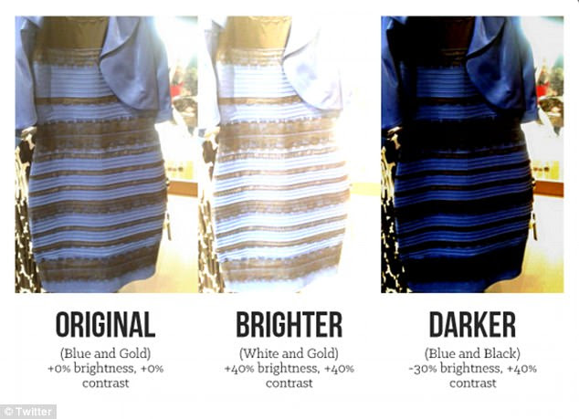 Photo trickery? One of the many graphics made in response to the dress claims to explains the discrepancy