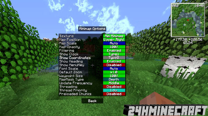 Rei's Minimap Mod for Minecraft 1.8.9, 1.7.10 and 1.7.2