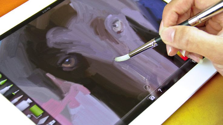 A Paintbrush That Works On The iPad