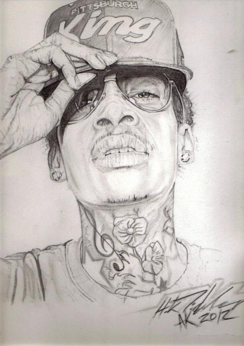 Portrait Of Wiz Khalifa By Ninjastyle On Stars Portraits