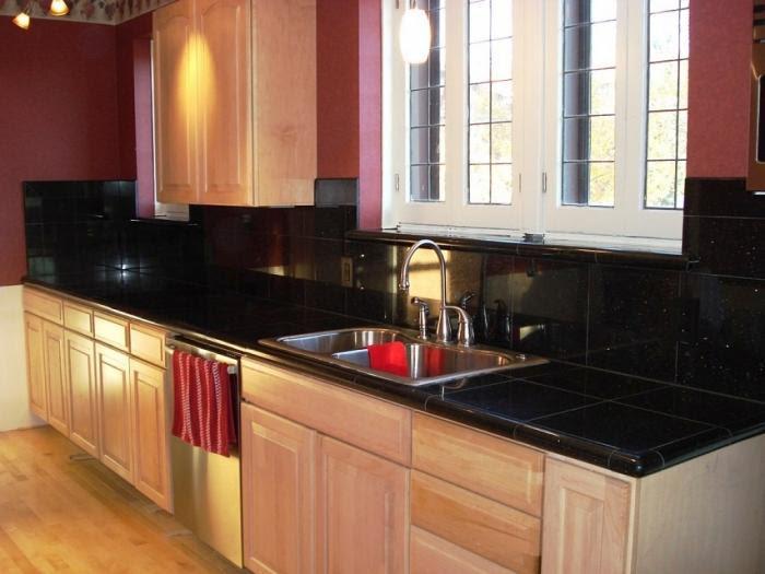 10 Glossy Tiled Kitchen Countertops Rilane