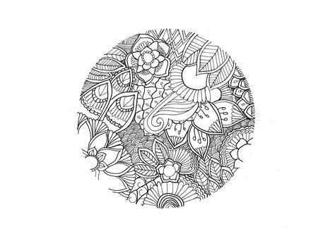 mandala cercle mandalas coloriages difficiles pour adultes