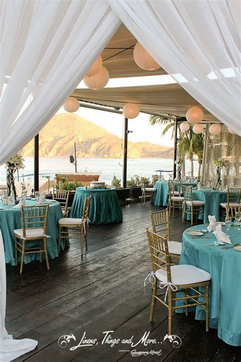 Wedding decor Teal and gold! Pefect by the ocean at Baja