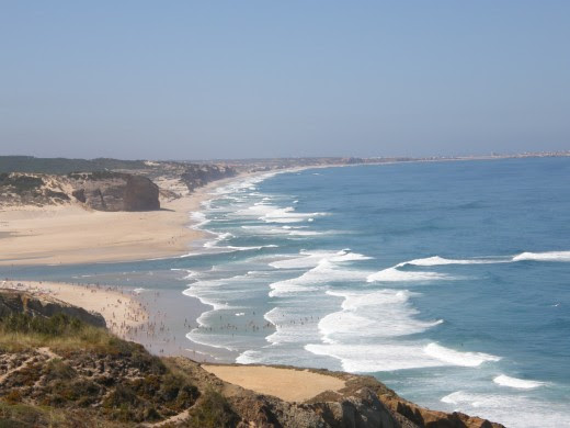 Mouth of the Obidos Lagoon, Portugal