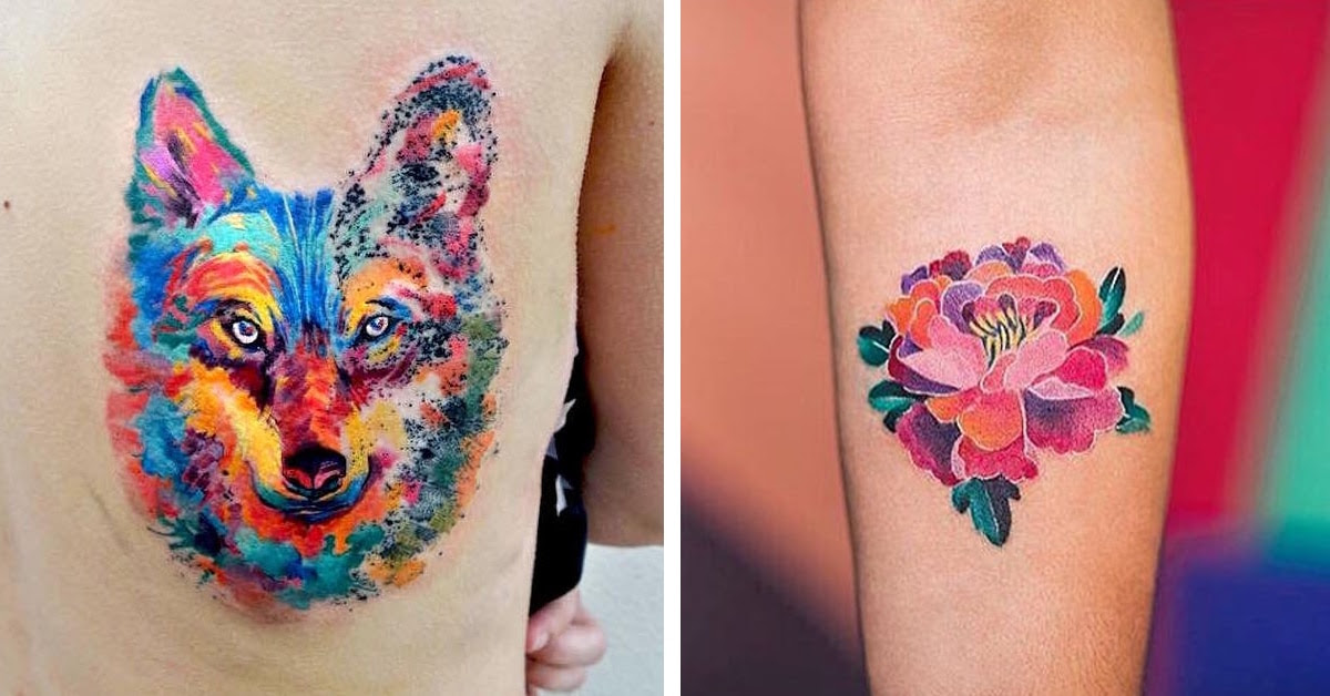 Watercolor Tattoos That Beautifully Transform Skin Into a ...