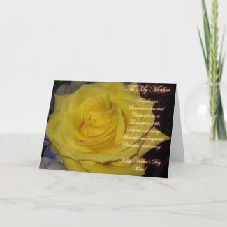Yellow Rose Mother's Day Card card