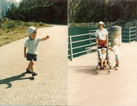Photo prise en 1988 au barrage d'emosson