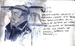 Pepe el librero. 18.30H. 35 sketchcrawl in Valladolid