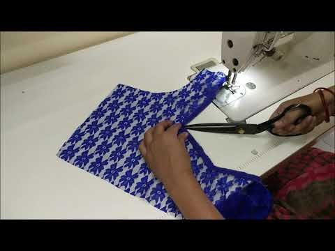 very Beautiful Net Blouse Design Cutting And Stitching