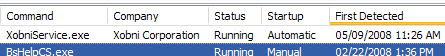 WinPatrol First Detected Xobni