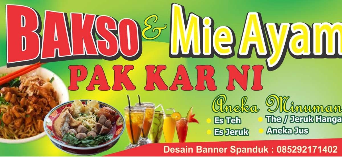 Contoh Gambar Spanduk Mie Ayam Bakso - desain banner kekinian