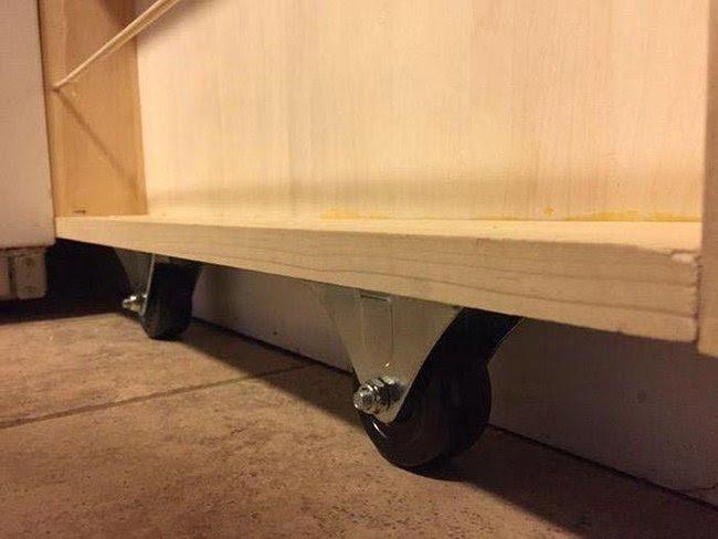 выдвижная этажерка