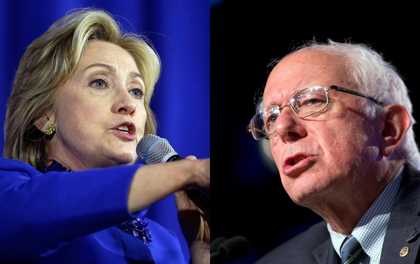 Hillary Clinton and Bernie Sanders