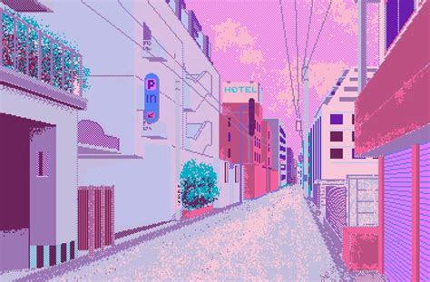 city street disappear   shiny city pixel art art