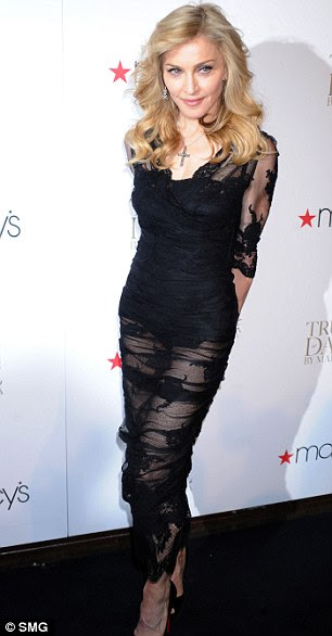 Immaterial girl: Madonna disappoints in this bandage dress by Dolce & Gabbana: It's like a rag