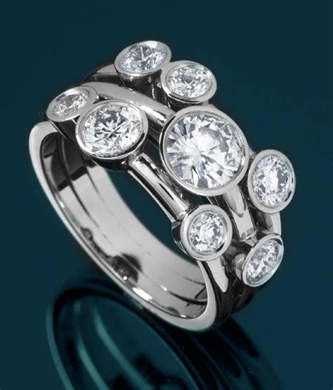 Raindance Style 8 Stone Bubble Ring   Bespoke Luxury Jewellery