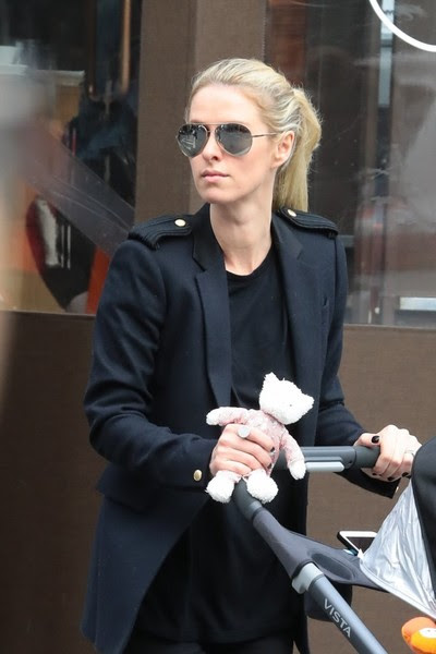 Nicky Hilton Takes Her Daughter for a Walk in NYC
