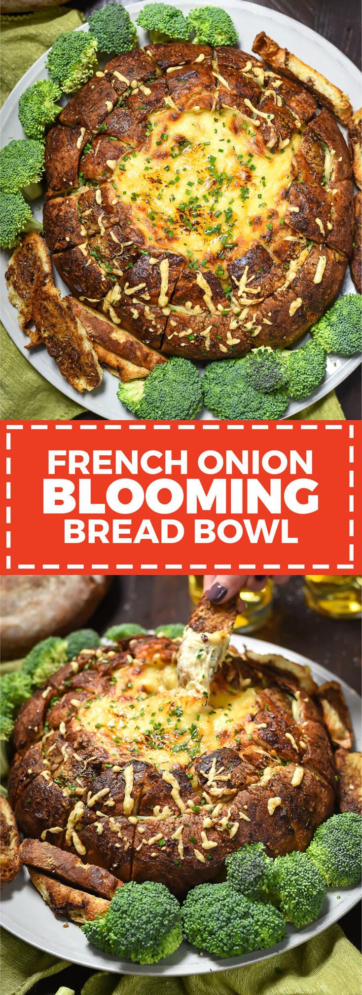 French Onion Blooming Bread Bowl - Host The Toast