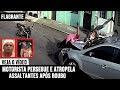 Motorista persegue e atropela assaltantes após ser roubado; veja vídeo