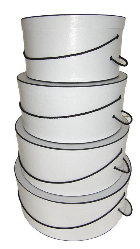Hat Boxes   Sets of Hatboxes   Single hatbox   White
