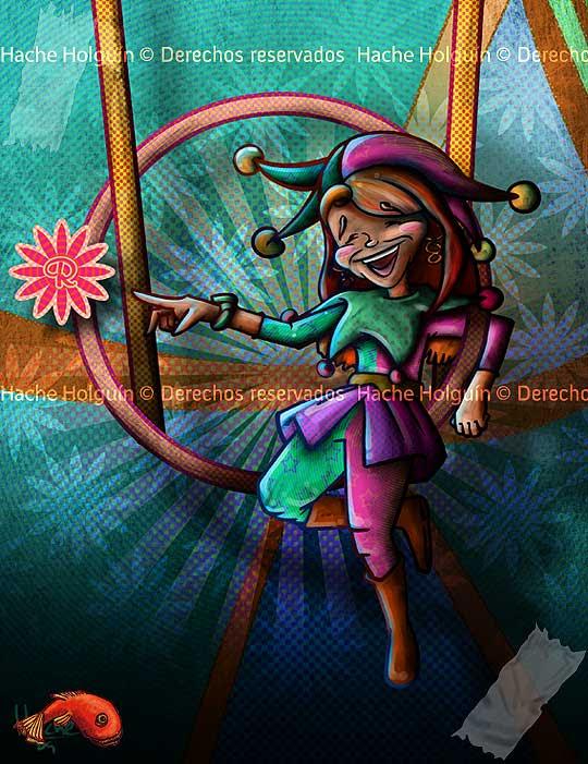 Ilustración Arlequín para Rosa