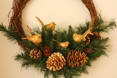 Golden Bird Wreath