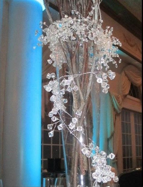 Iced Branch Centerpieces   Getting married   Branch