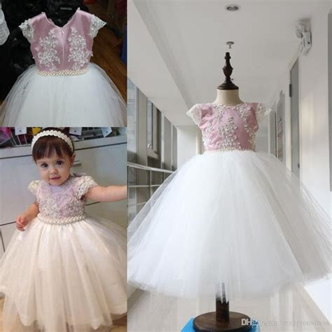 Lovely Pearls Beaded Ball Gown Baby Girl Party Dresses
