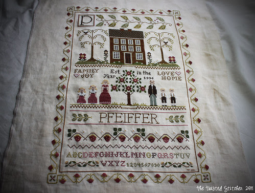 Little House Needleworks - Family Sampler (front)