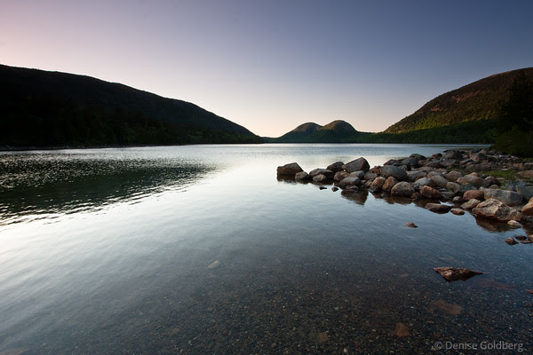 late day light, Jordan Pond