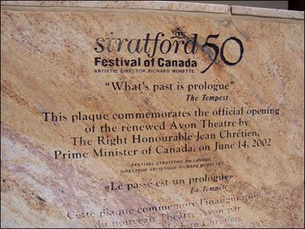 Stratford Plaque