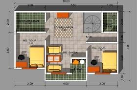 Sketsa Rumah Minimalis 2 Kamar Sederhana