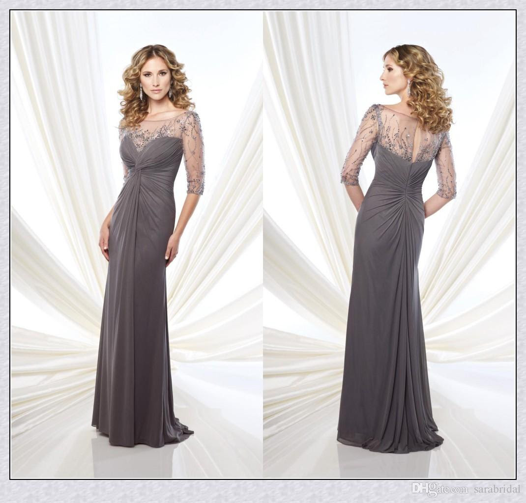 a line pewter mother of the bride groom dresses 34 long
