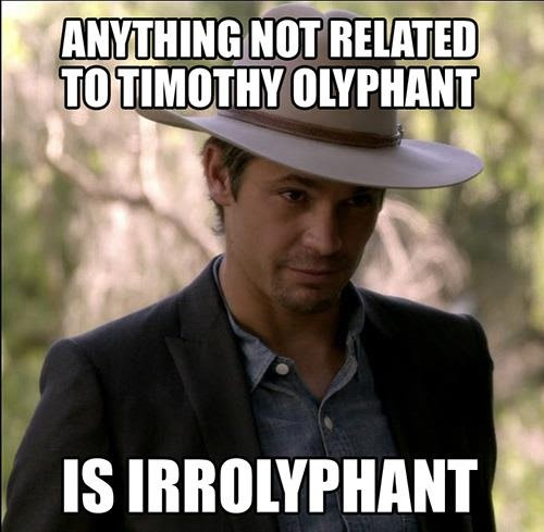 "#TimothyOlyphant as ""Raylan"" on #Justified. Love me some Tim!"