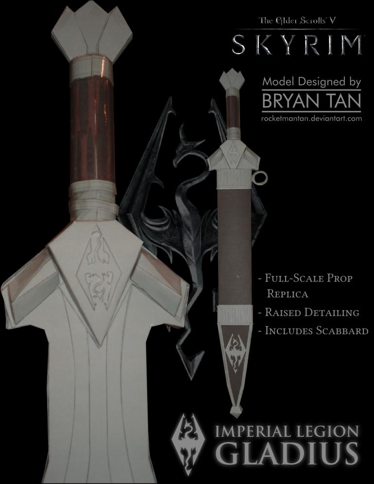 Skyrim Imperial Sword Papercraft