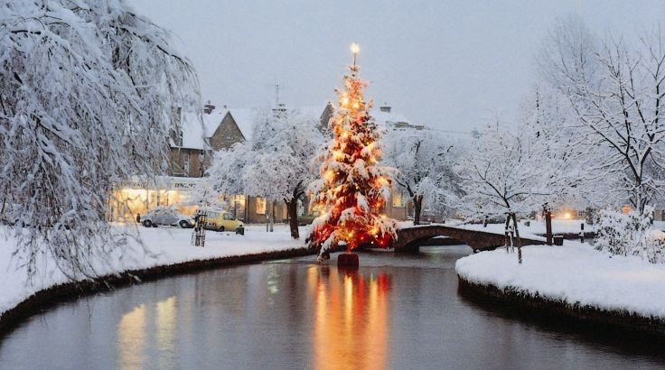 101 Reasons To Love The Cotswolds Bourton Christmas Tree In River