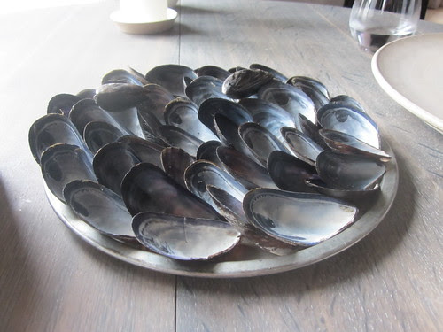 Noma - Copenhagen - August 2012 - Blue Mussel and Celery (one edible mussel)