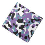 Uncovered Camouflage Purple And Turquoise Bandana