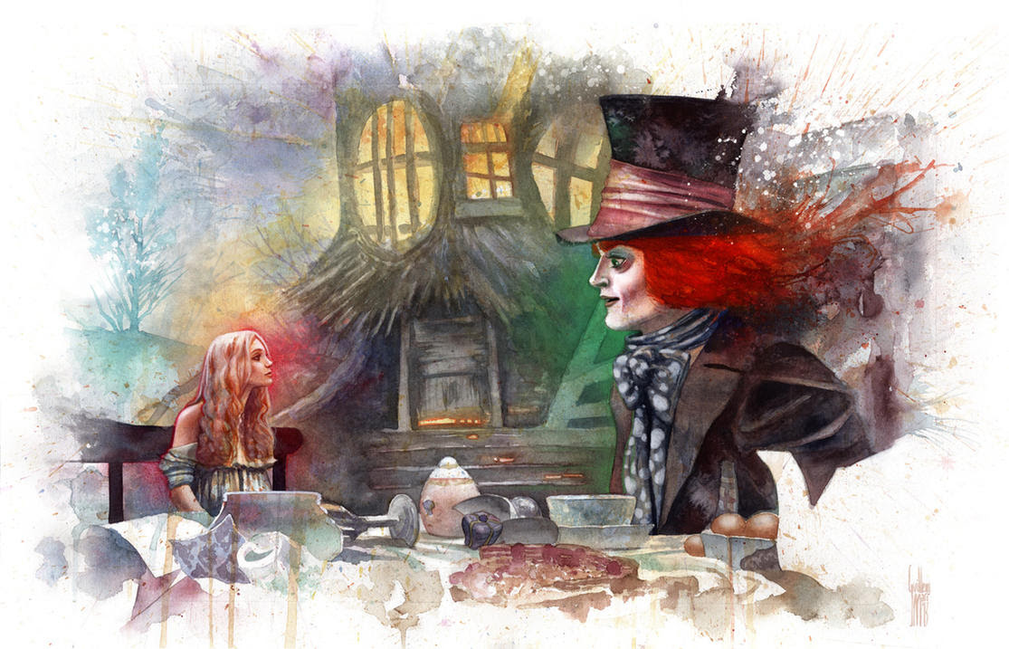 Alice and the Mad Hatter by guillembe